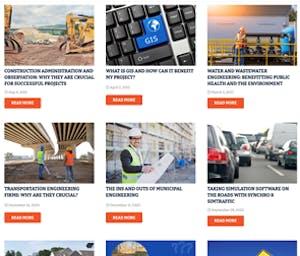 engineering website blog example